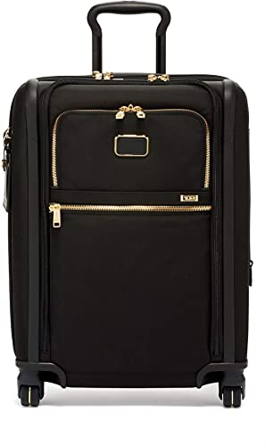 TUMI – Alpha 3 Continental Dual Access 4 Wheeled Carry-On Luggage – 22 Inch Rolling Suitcase for Men and Women – Black Gold