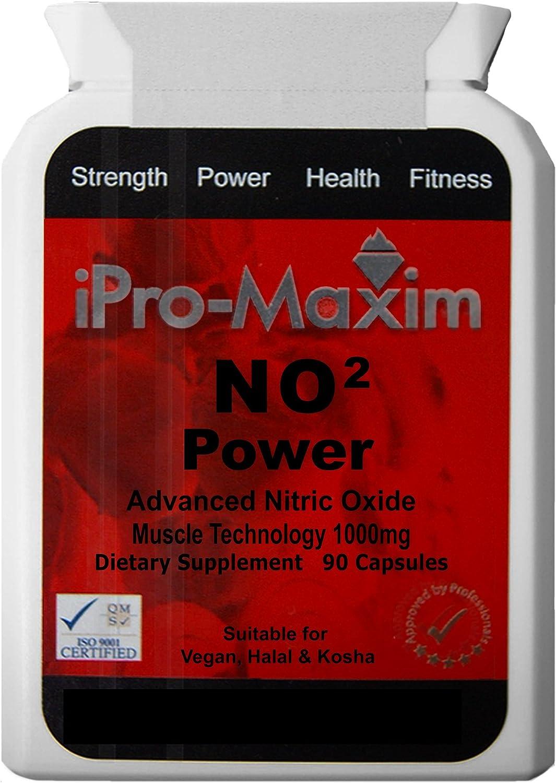 Óxido Nítrico NO2 Power (90 cápsulas) 1000mg por cápsula - el suplemento profesional más poderoso para deportes en el mercado. El suplemento anabólico para músculos que maximiza e intensifica la masa