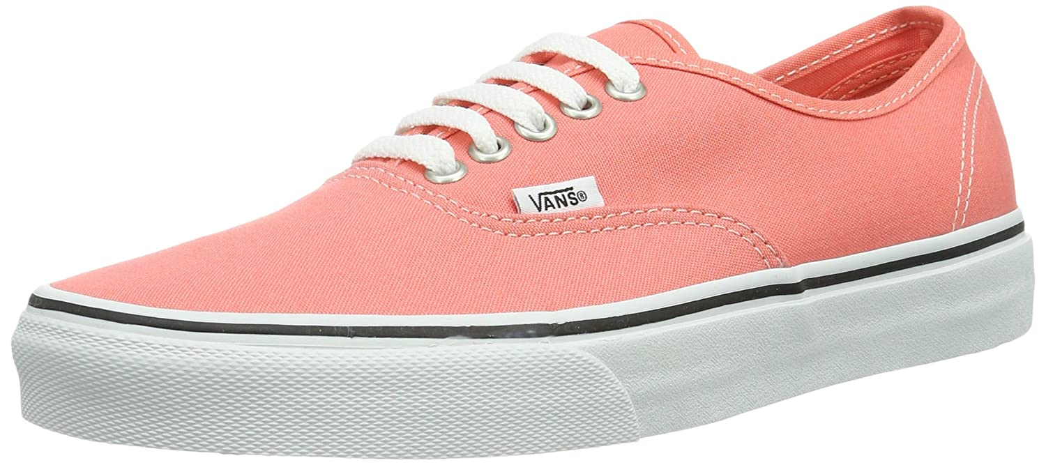 [バンズ] VANS VANS AUTHENTIC VEE3 B00HJBTGRG 9.5 B(M) US Women / 8 D(M) US Men|Fusion Coral/True White Fusion Coral/True White 9.5 B(M) US Women / 8 D(M) US Men