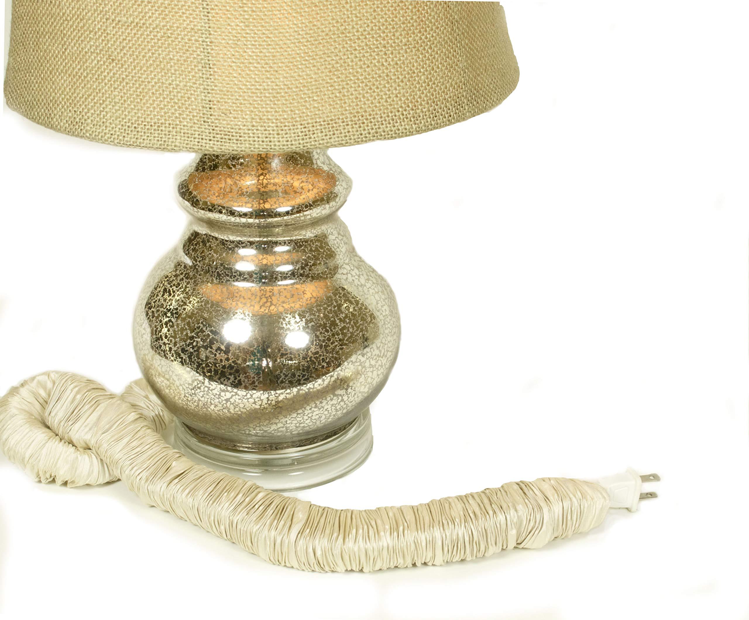 Bone Silk Lamp Cord Cover 9 ft long