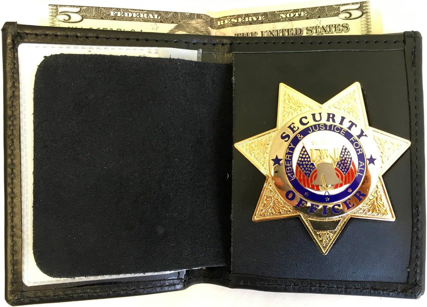 Hero's Pride Bi-Fold Recessed 7 pt Star Wallet CDCR