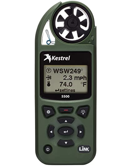 Kestrel 5500 Pocket Weather Meter with Link and Vane Mount, Olive Drab