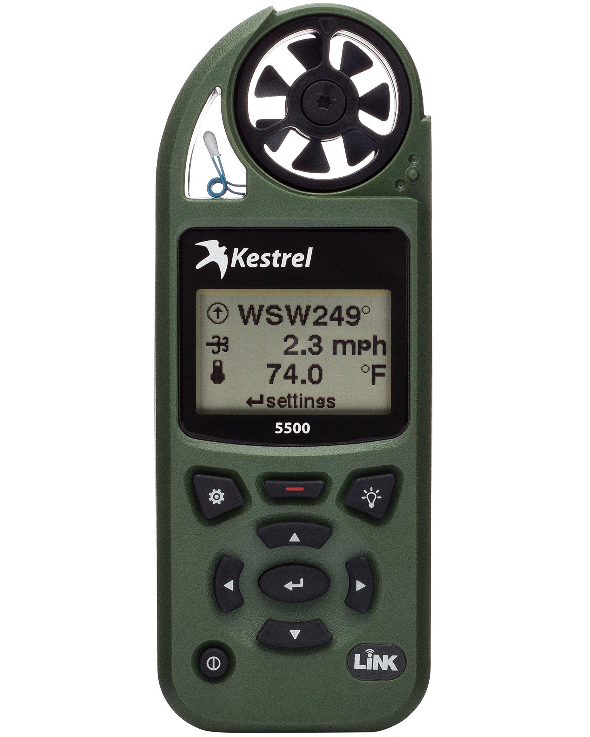 Kestrel 5500 Pocket Weather Meter with Link and Vane Mount, Olive Drab by Kestrel