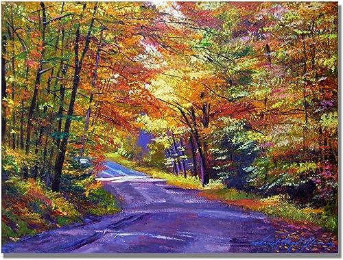New England Road by David Lloyd Glover, 18×24-Inch Canvas Wall Art