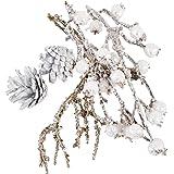 Dadeldo Living & Lifestyle Bastel Set Xmas Natur 6er Deko 3-14-17cm weiss glitter Weihnachten