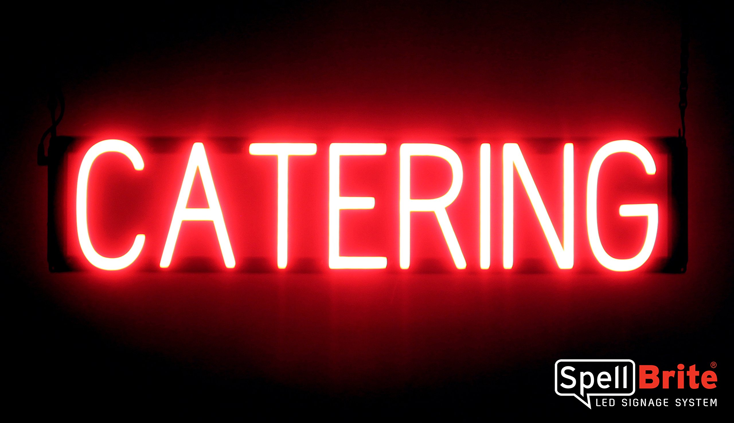 SpellBrite Ultra-Bright CATERING Sign Neon-LED Sign (Neon look, LED performance) by SpellBrite LED Signage System