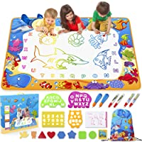 Water Doodle Mat - Kids Painting Writing Doodle Toy Mat - Color Doodle Drawing Mat Bring Magic Pens Educational Toys for Age 3 4 5 6 7 8 9 10 11 12 Year Old Girls Boys Age Toddler Gift