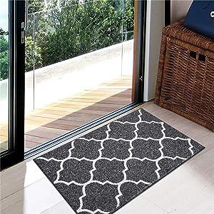 Kitinjoy Premium Durable Indoor Door Mat, Non Slip Absorbent Resist Dirt Entrance Rug, 20