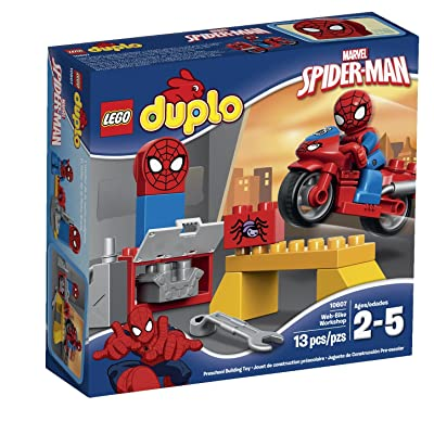 Lego DUPLO Spider-Man Web-Bike Workshop 10607 Spiderman Toy: Toys & Games