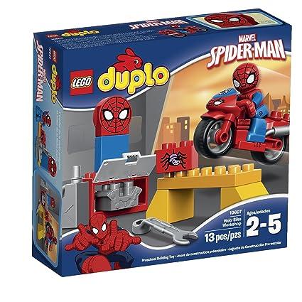 Image Unavailable. Image not available for. Color  LEGO Super Heroes  Spider-Man Web-Bike Workshop Building Kit 9e65282f8
