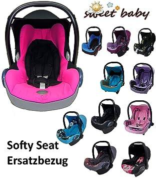 Sweet Baby ** SOFTY PROTECT CITI** Kuschelig weicher und dick gepolsterter ERSATZBEZUG f/ür Maxi Cosi CITI Grau // Fuchsia