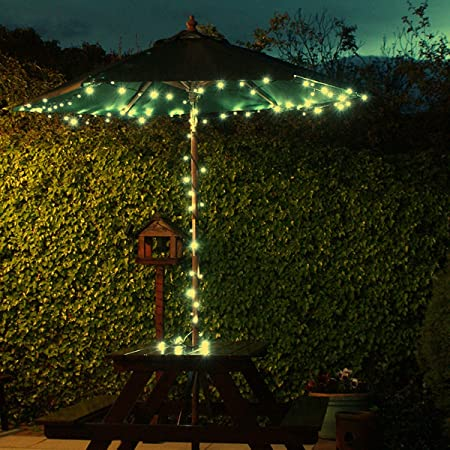 10m 100 led solar powered outdoor fairy lights with timer and multi 10m 100 led solar powered outdoor fairy lights with timer and multi function by festive lights aloadofball Choice Image