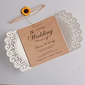 Amazon Com Picky Bride Rustic Wedding Invitations With Customized
