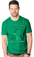 Mens Make St Patties Day Great Again Donald Trump Funny Drinking T Shirt