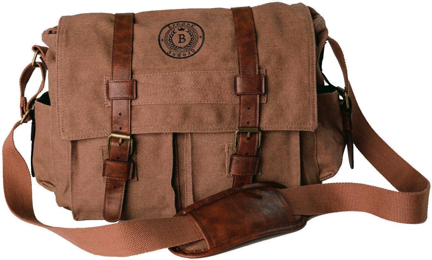 Pine Tree Forest Black Lantern Unisex Messenger Casual Messenger Bag Geek Messenger Bag Retro Messenger Canvas Messenger Bag
