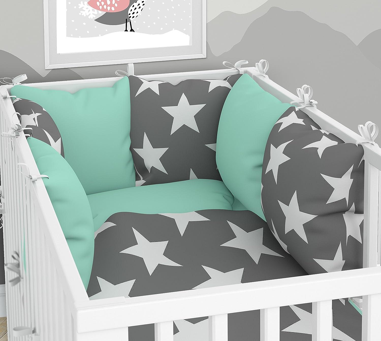 Parure de lit bébé et tour de lit–SIX Coussin Velours les taies d'oreillers pour le lit bébé 70x 140cm KLARA BRIST