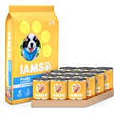 IAMS Proactive Health Smart Puppy Dry Dog Food and Pate Wet Dog Food Cans, Chicken Recipes
