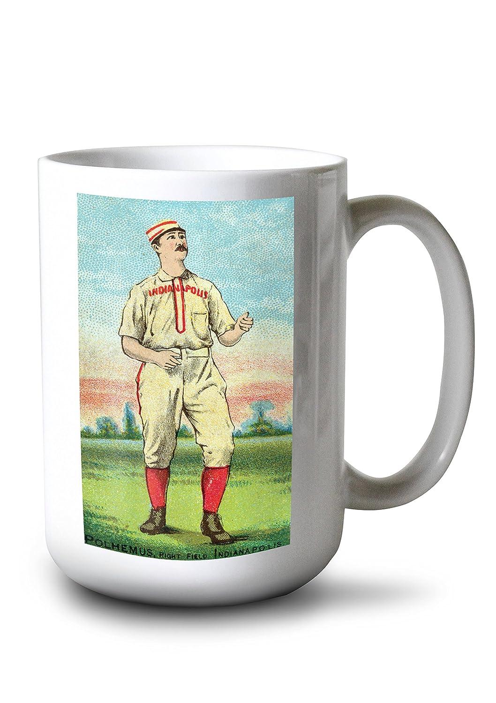 インディアナポリスHoosiers – マークPolhemus – 野球カード 15oz Mug LANT-3P-15OZ-WHT-22468 15oz Mug  B0784MB62V