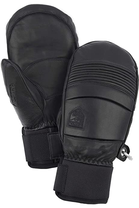 Hestra Leather Fall Line Short Freeride Snow Mitten with Superior Grip for Skiing and Mountaineering
