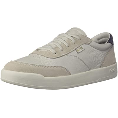 Keds Match Point Leather/Suede Women 5.5 White Lt Gray | Flats