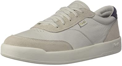 c1a2b837d1c Keds Match Point Leather Suede Women 5 White Lt Gray
