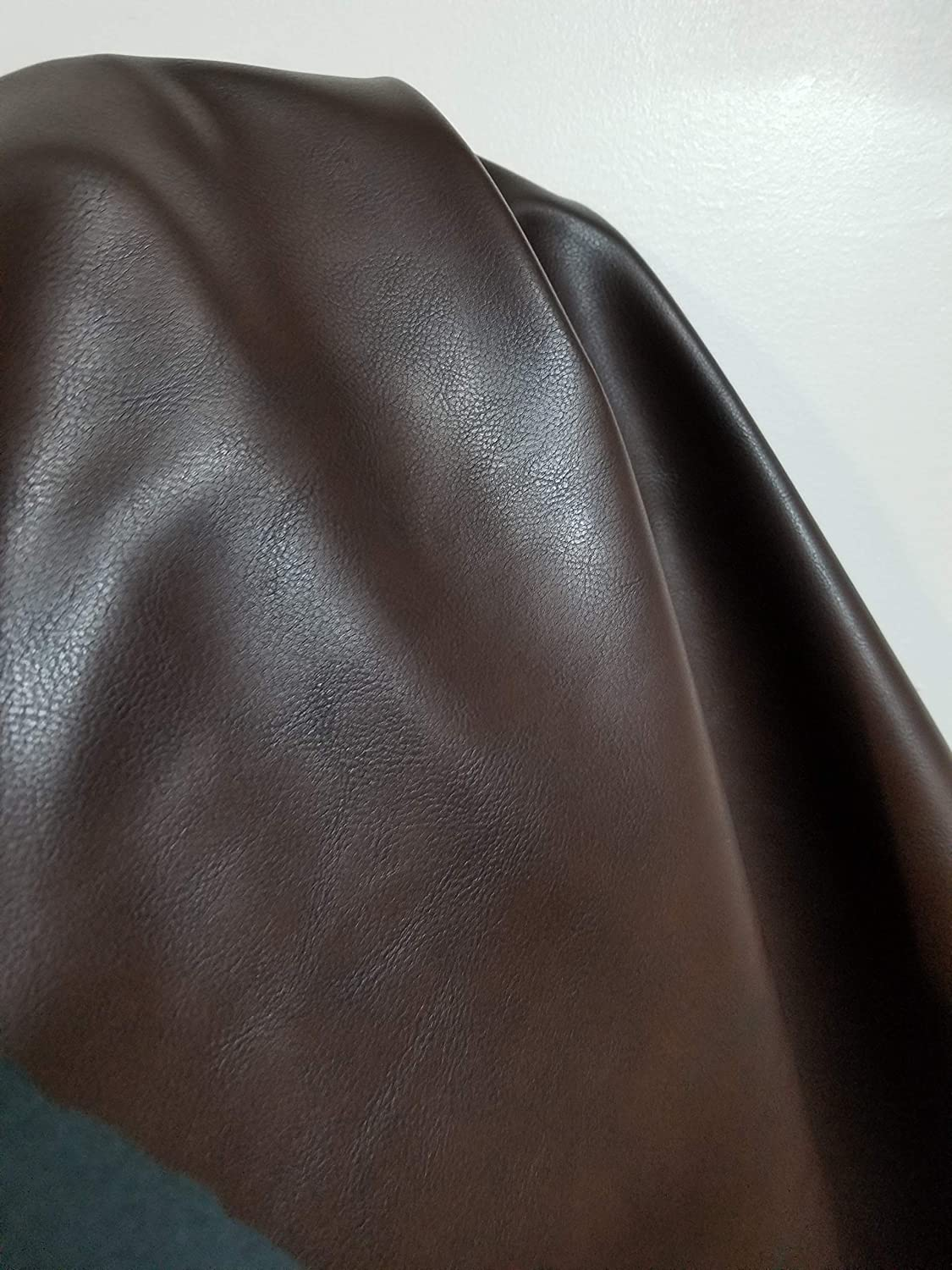 Brown Brown Soft Faux Leather by The Yard Synthetic Pleather 0.9 mm Snooth Vegan Madison 1 Yard 52 inch Wide x 36 inch Long Soft Smooth Vinyl Upholstery