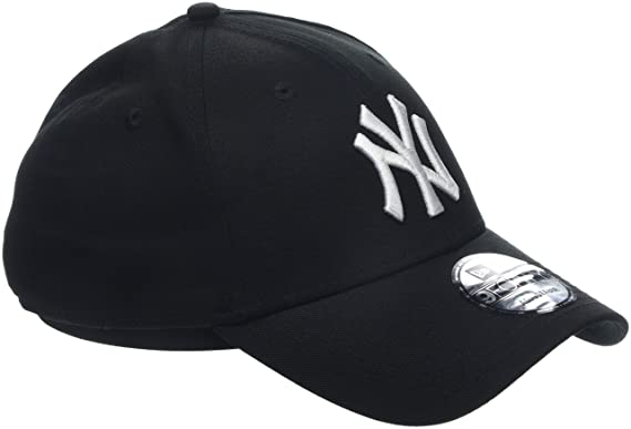 3901fafd9c4dbe New Era Men's MLB Basic NY Yankees 9Forty Adjustable Baseball Cap, Black,  One Size