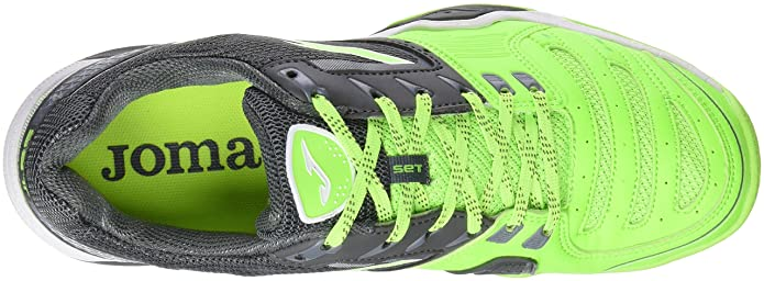 Joma T.SET 611 Clay Limon Fluor-Negro, Sneakers Homme - - Jaune Fluo-Noir, 44 EU
