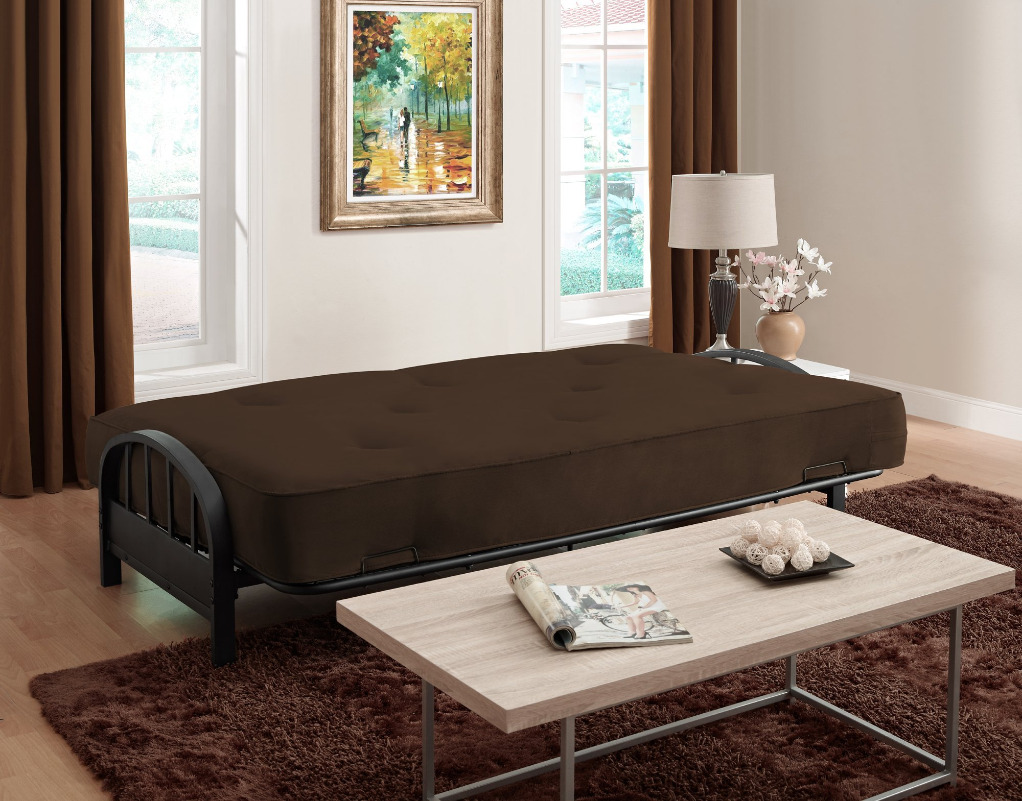 DHP Aiden Futon Metal Frame, Converts Easily to a Full- Size Bed, Black by DHP (Image #7)
