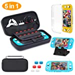 HEYSTOP Nintendo Switch Lite Carrying Case, Portable Travel Protective Hard Bag with 20 Games Cartridges for Nintendo...