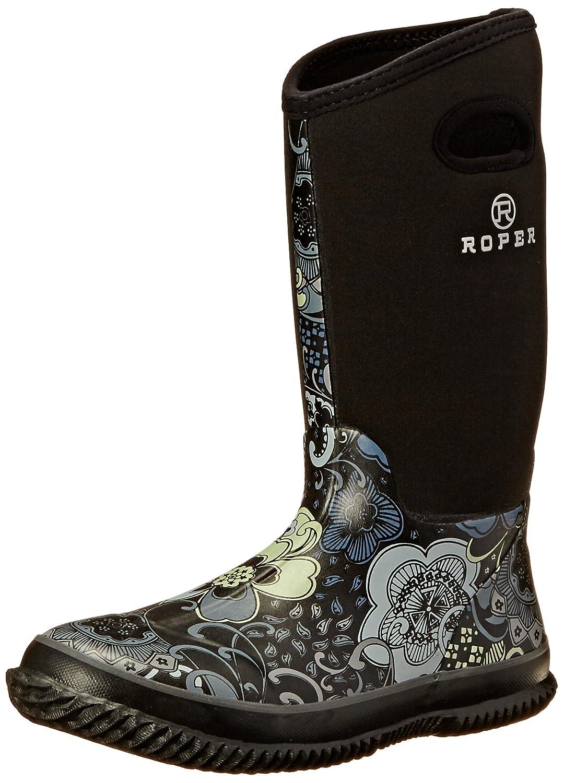 Roper Women's Barnyard Prints Rain Shoe B007M2GHT2 11 B(M) US Black