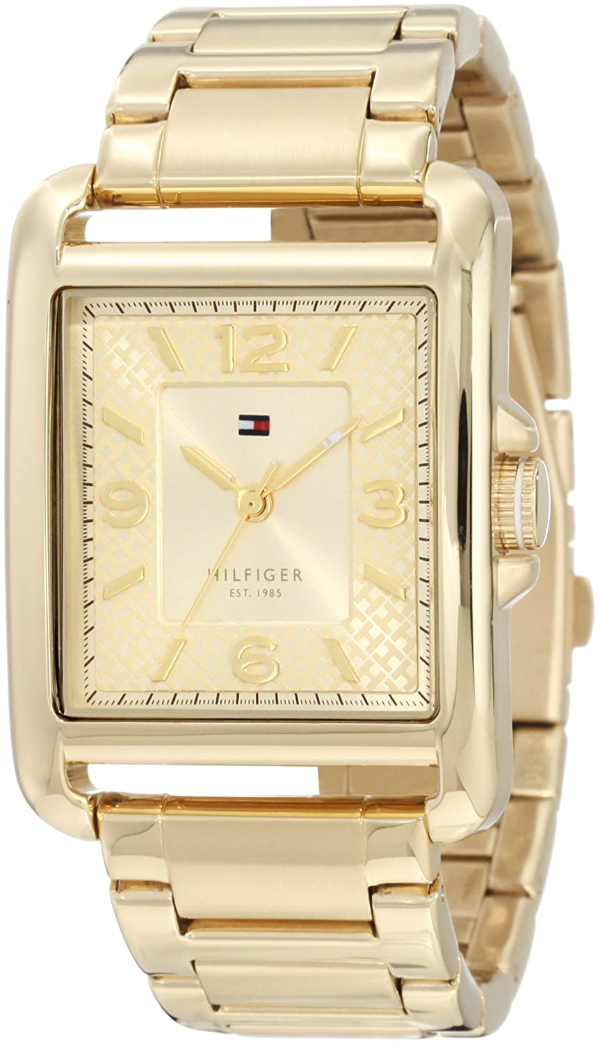 Amazon.com: Tommy Hilfiger 1781195 Sport Tank Gold Plated Stainless steel Watch: Tommy Hilfiger: Watches