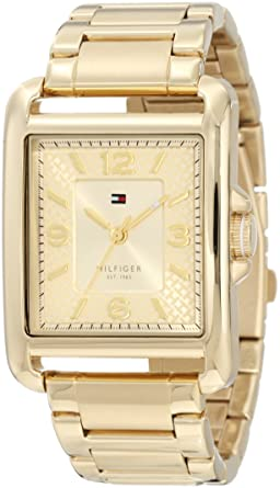 Tommy Hilfiger 1781195 Sport Tank Gold Plated Stainless steel Watch
