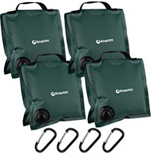 Anavim Heavy Duty Water Weight Bag Saddle Design 4 Pack Photo Video Studio Stand, Backyard, Outdoor Patio, Sports (Green)