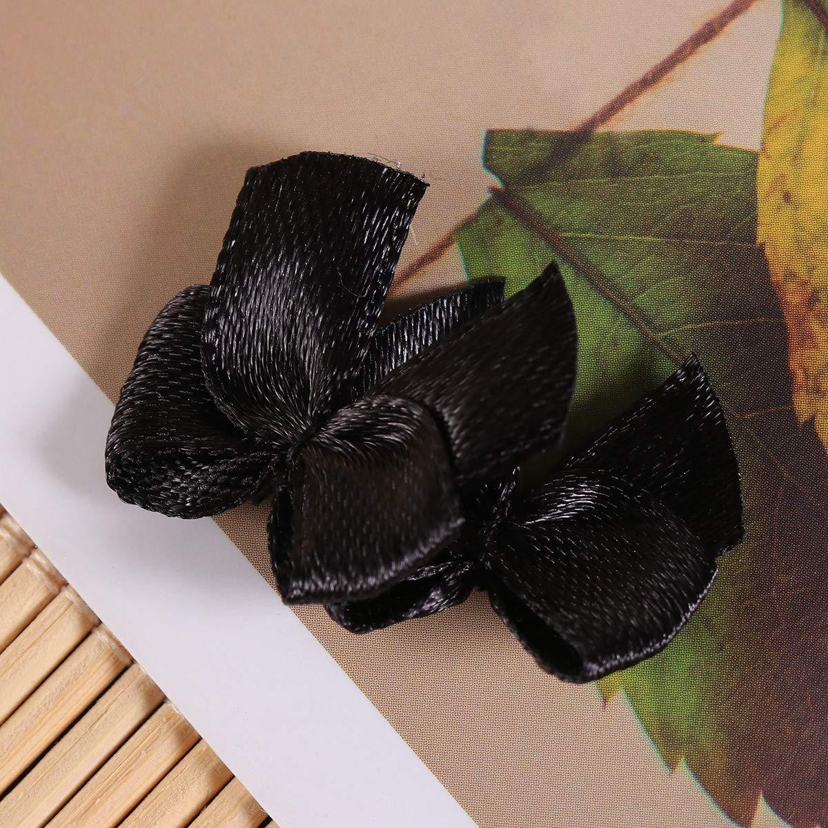 Healifty Mini Satinband B/ögen DIY Handwerk Hochzeitsdekoration Kinderhandwerk Karte Machen Verzierungen Geschenkverpackung 100 st/ücke