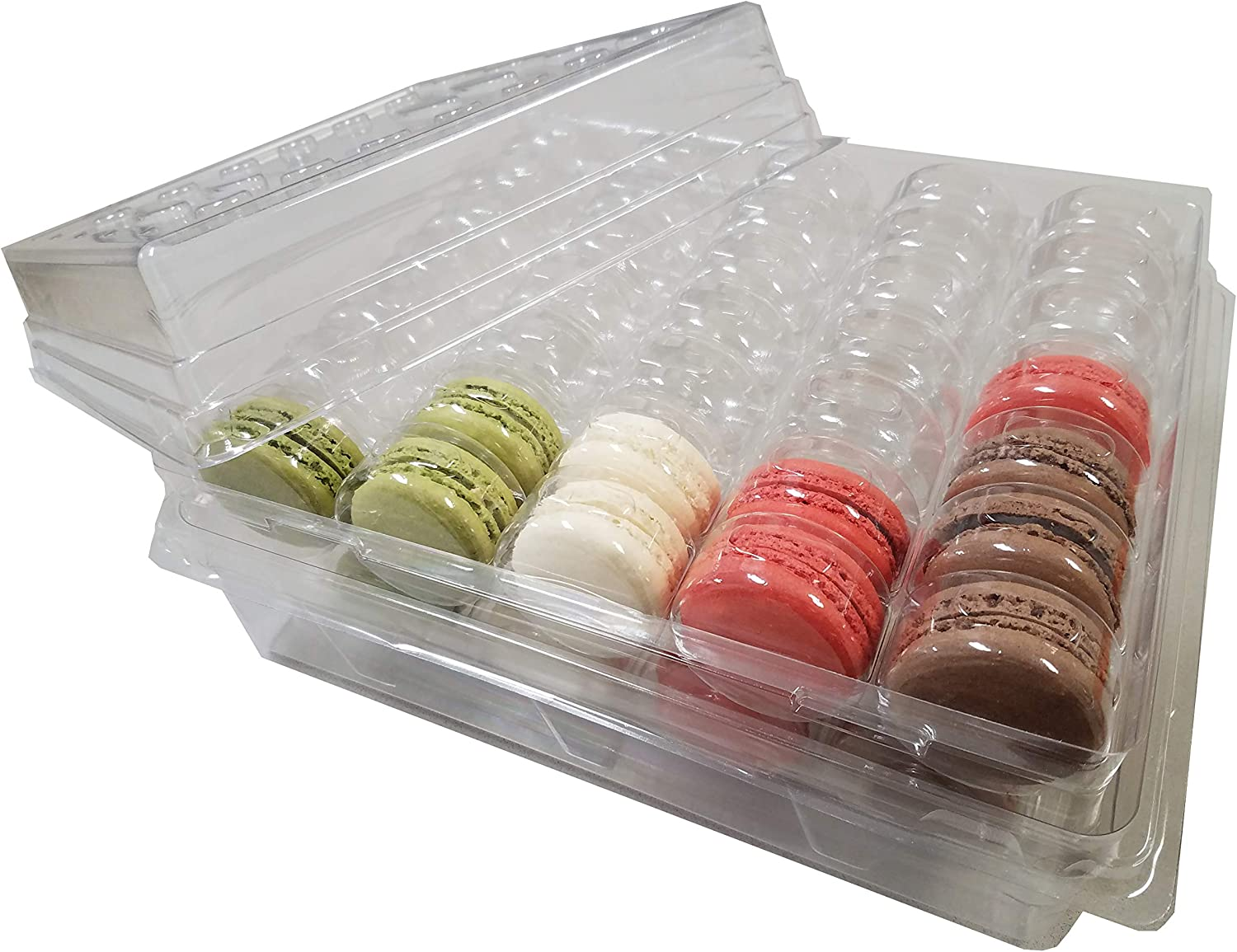 French Macaron Complete Storage Freezer Boxe - Large Storage Box and 4 Macarons Trays - Stores 70 macarons - 2 Sets