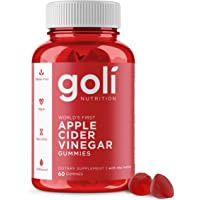 Apple Cider Vinegar Gummy Vitamins by Goli Nutrition - Immunity & Detox - (1 Pack, 60 Count, with The Mother, Gluten…