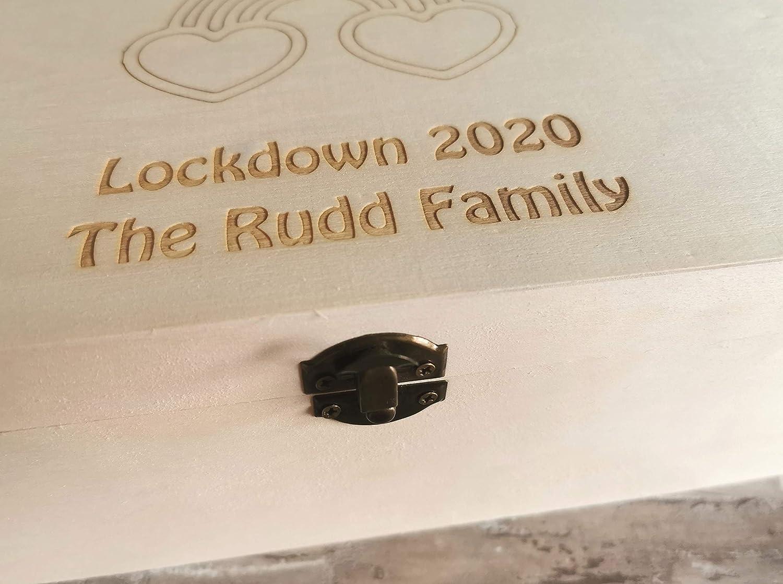 Personalised Rainbow Large Lockdown 2020 Memory Keepsake Box