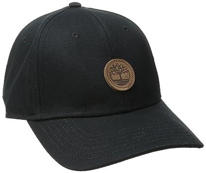 baseball cap black leather timberland men hat one size hm plain uk