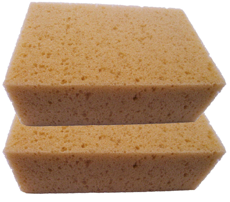 C Lean House Set of 2 XXL Boat Sponge Tiles Universal Sponge Car Sponge C-Lean House