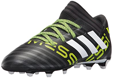 adidas Kids' Nemeziz Messi 17.3 FG J Soccer-Shoes, Black/White/