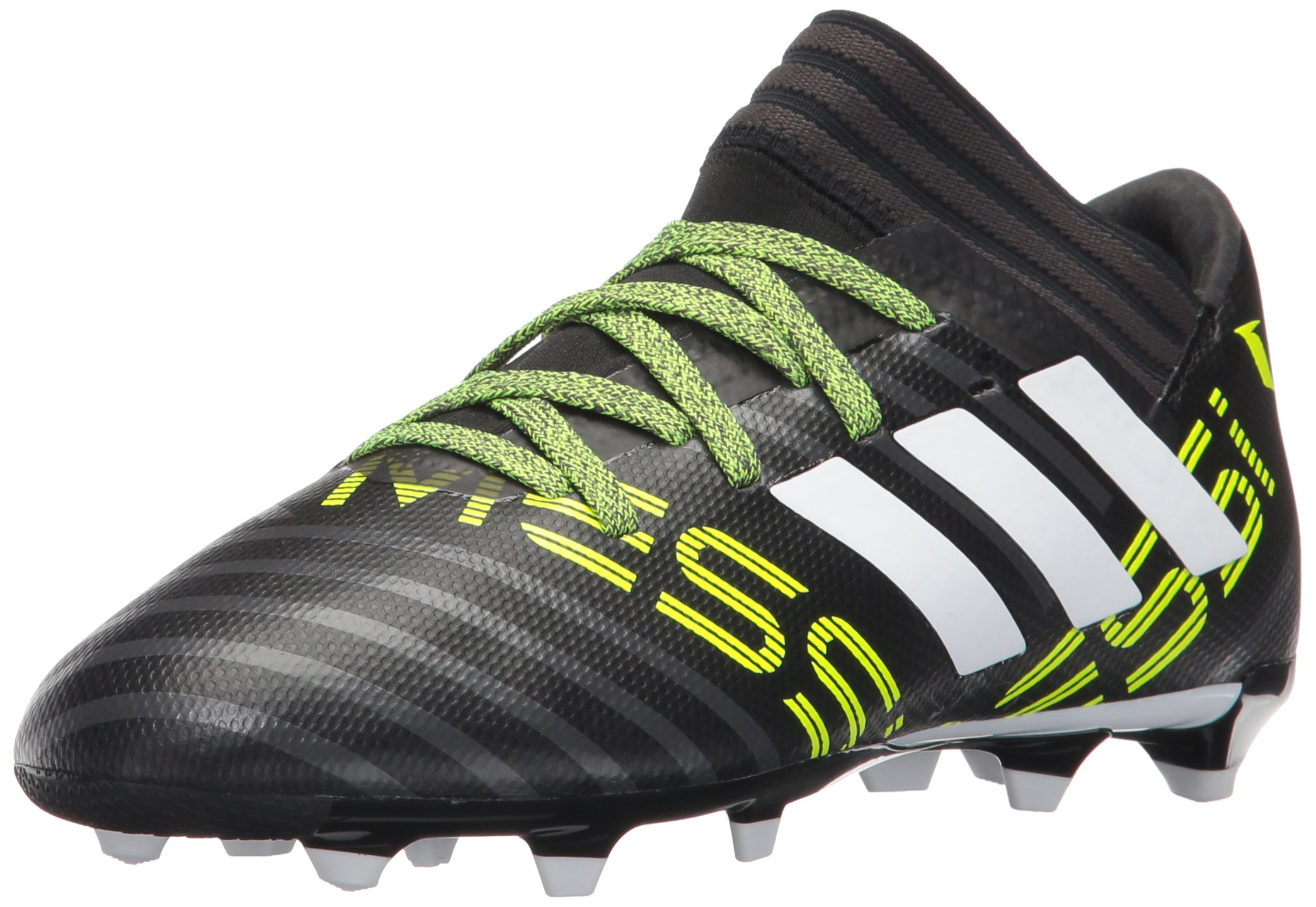 adidas Kids' Nemeziz Messi 17.3 Fg J Soccer-Shoes, Black/White/Solar Yellow, 3.5 Big Kid