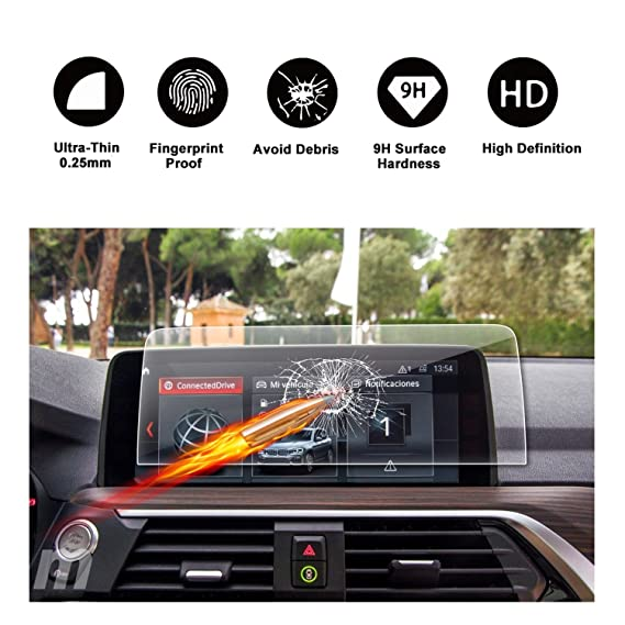 Customized for 2018 BMW X3 G01 Touch Screen Car Display Navigation Screen  Protector, R RUIYA HD Clear TEMPERED GLASS Protective Film (10 25 Inch)