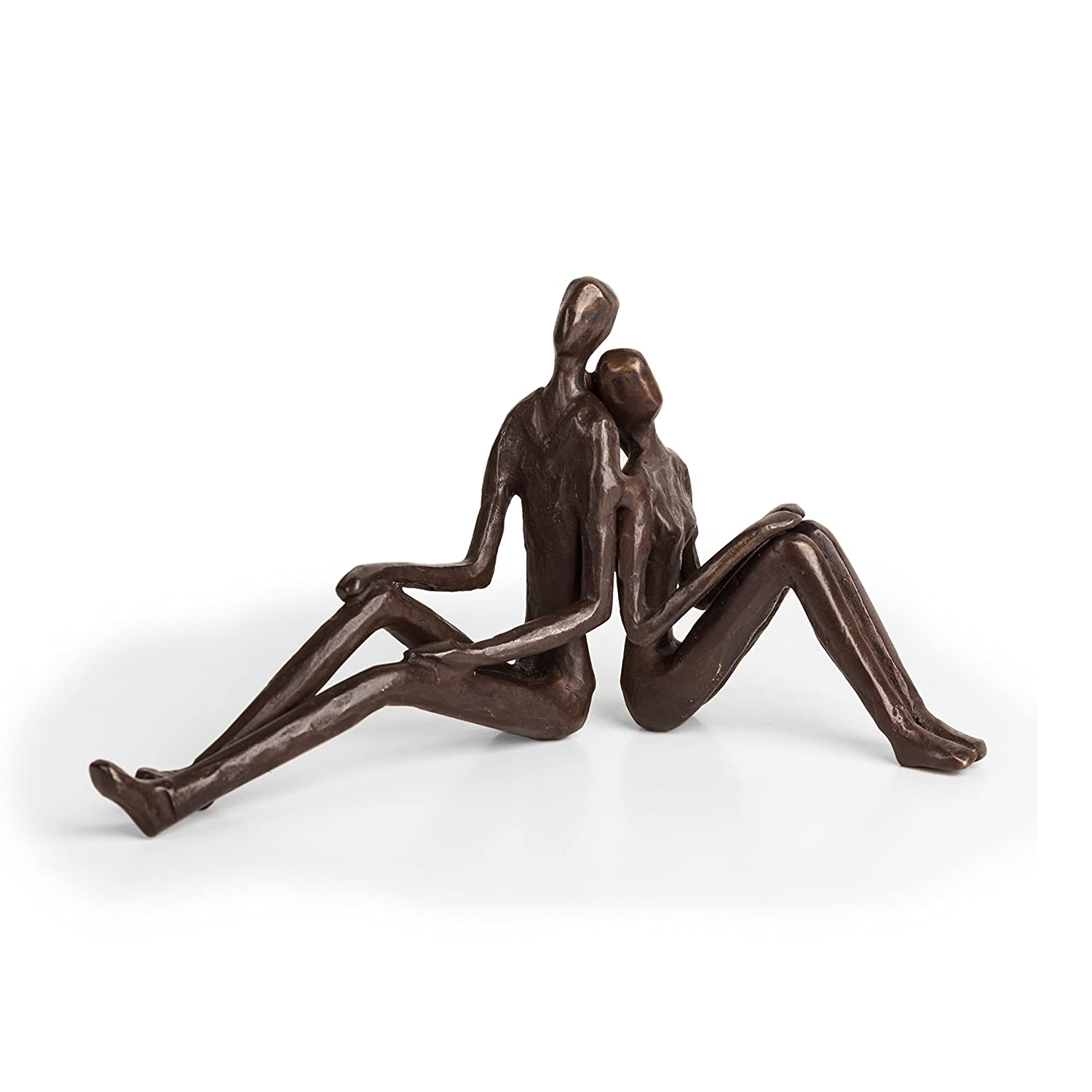 Danya B. ZD15004 Contemporary Metal Art Home Décor - Cast Bronze Sculpture - Romantic Couple