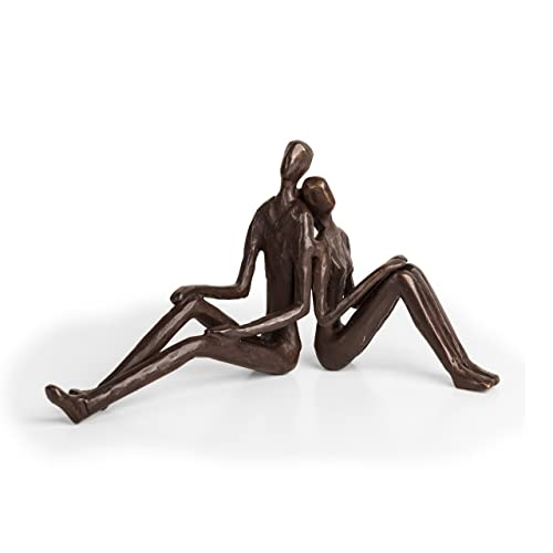 Danya B. ZD15004 Contemporary Metal Art Home D cor – Cast Bronze Sculpture – Romantic Couple