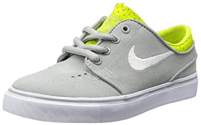 low priced ec14f 64f3a Image Unavailable. Image not available for. Color  Nike Stefan Janoski  Skate Shoe - Little Boys  Base Grey Venom Green White