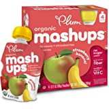Plum Kids Organic Fruit Mashups, Apple Sauce Strawberry Banana, 3.17 Ounce, 4 Count (Pack of 6)