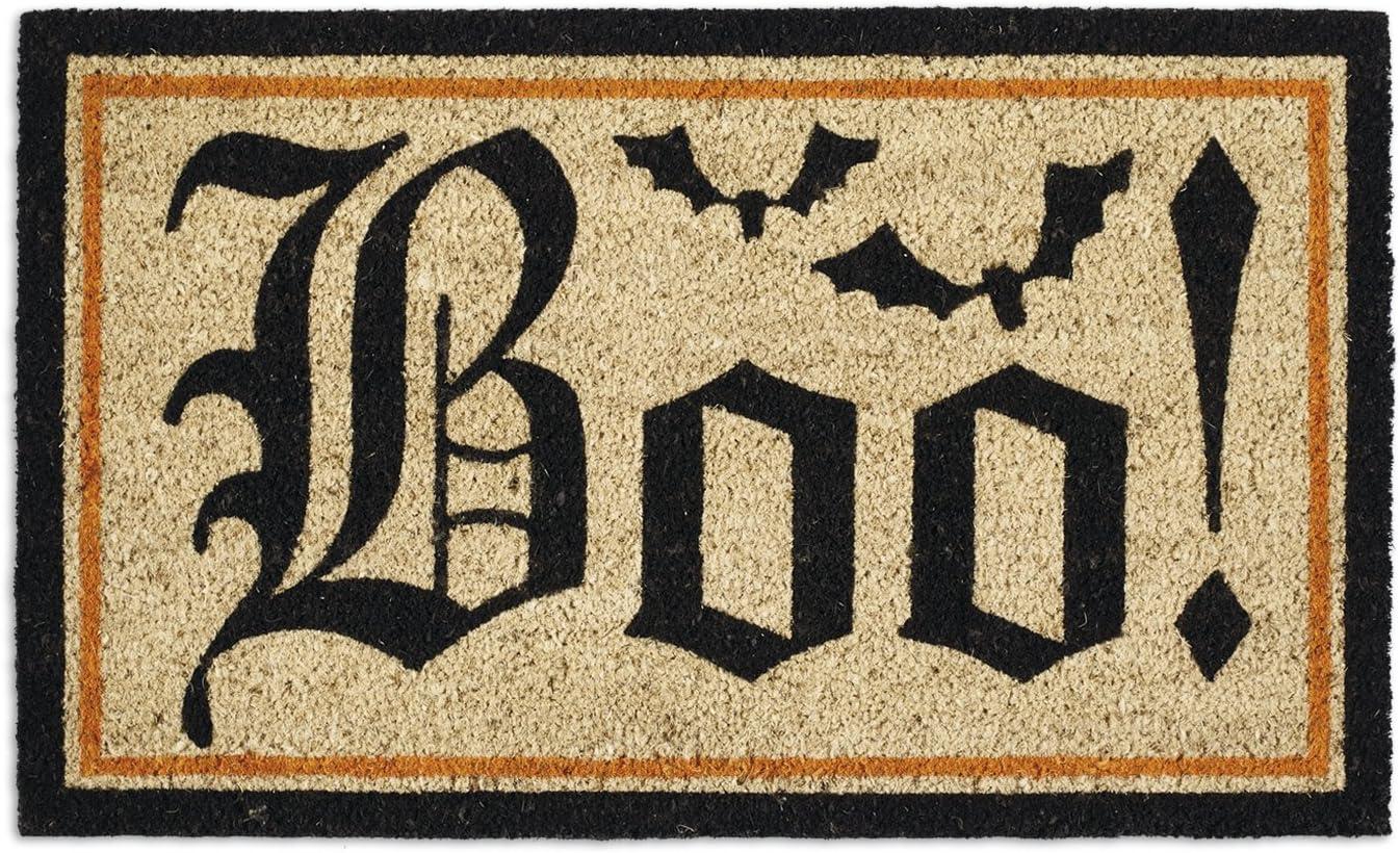 DII Indoor/Outdoor Natural Coir Easy Clean Seasonal Doormat, 18x30, Boo