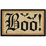 "DII Indoor/Outdoor Natural Coir Easy Clean Rubber Back Entry Way Doormat For Patio, Front Door, All Weather Exterior Doors, 18 x 30"" - Halloween Boo"