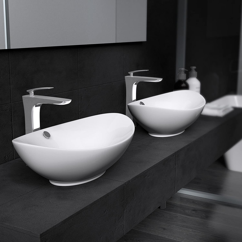 Mai /& Mai Lavandino Br/üssel306 Misure 63x42x15,5 cm in Ceramica Nano Rivestimenti inclusi